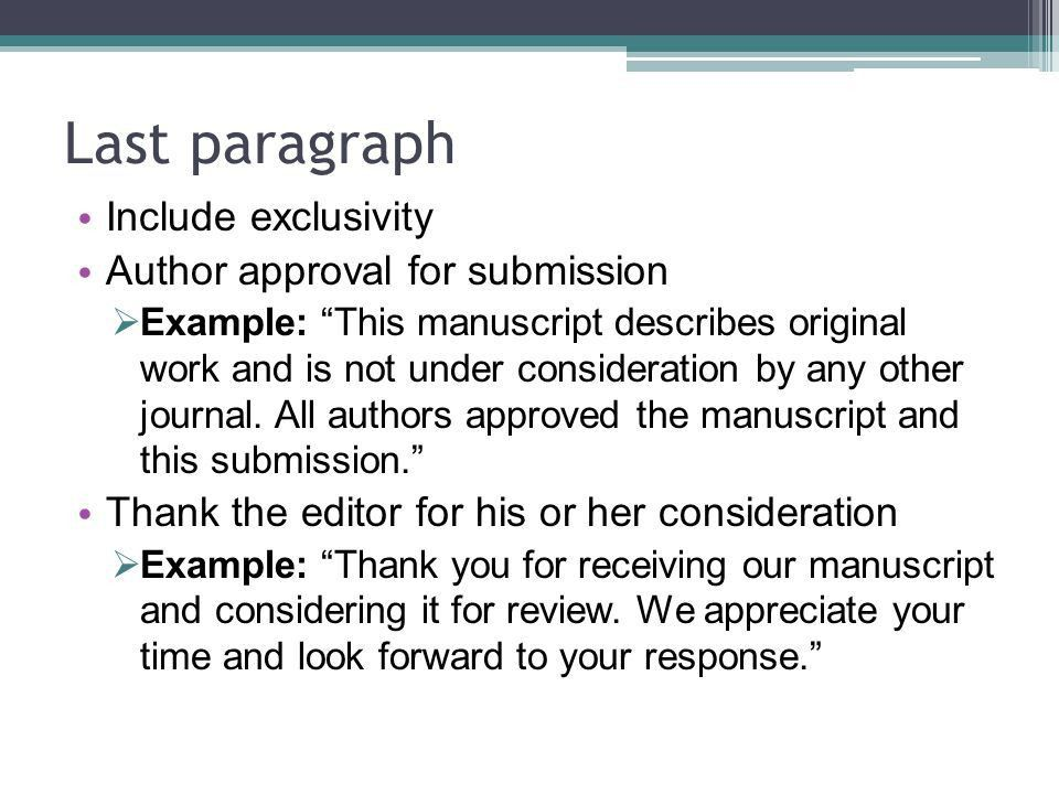Writing Cover Letters for Scientific Manuscripts - ppt video ...