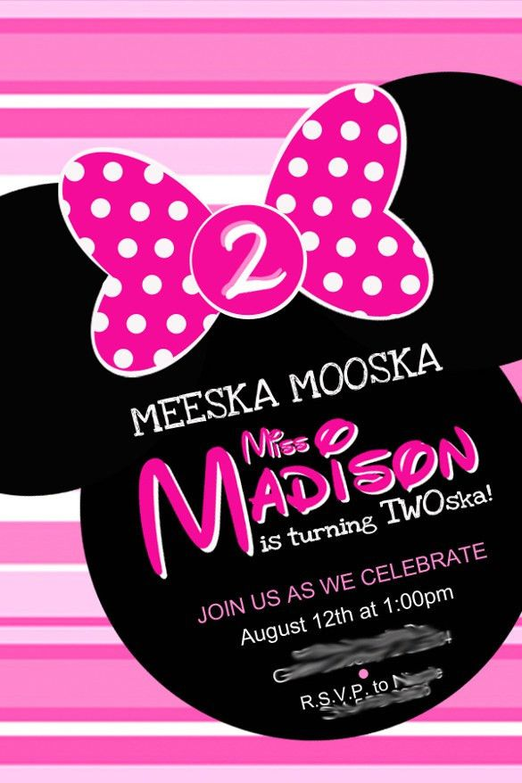 21+ Minnie Mouse Invitation Templates - Free Sample, Example ...