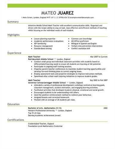 Teaching Resumes 16 Items To Include In Your Resumeyou Can Use ...