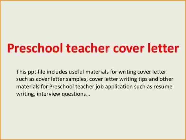 6+ sample application letter for preschool teacher - Basic Job ...