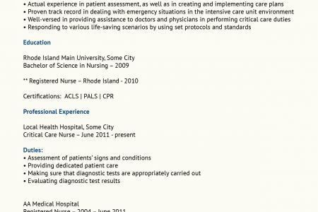 Sample Critical Care Rn Resume. rn resume examples registered ...