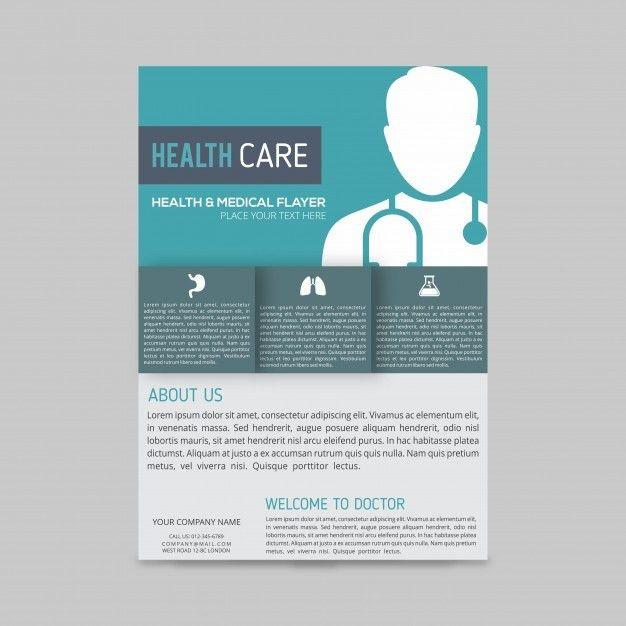 Modern medical brochure template Vector | Free Download