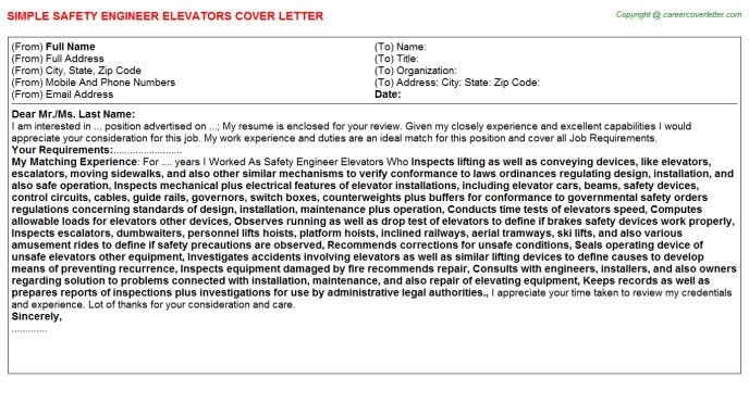 Tuv Functional Safety Engineer Cover Letters
