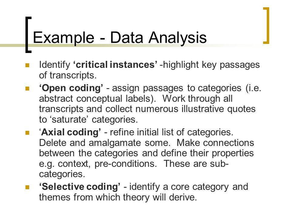 Qualitative Data Analysis - ppt video online download