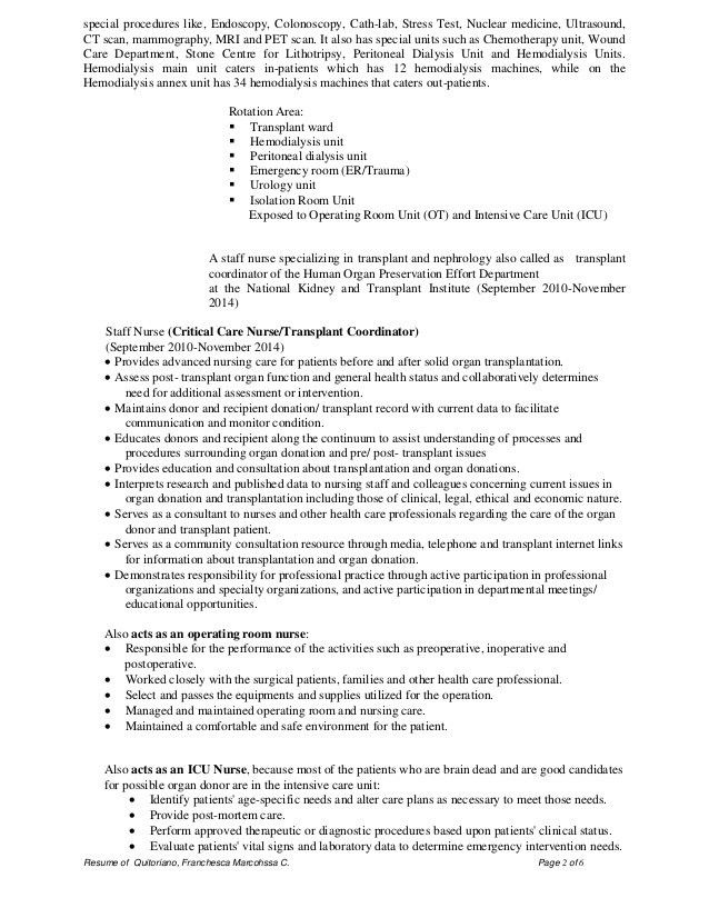 Examples Of Nursing Resumes. Outstanding Telemetry Nurse Resume 15 ...