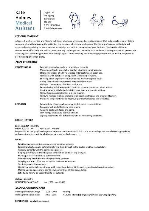 Medical Assistant Objective For Resume. resume examples for ...