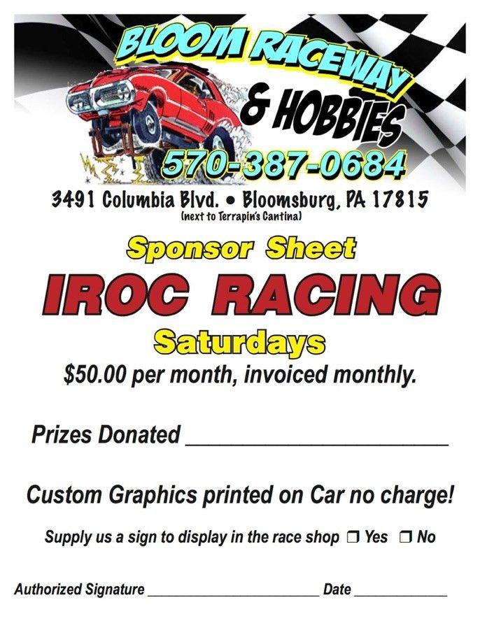IROC Sponsor Sheet