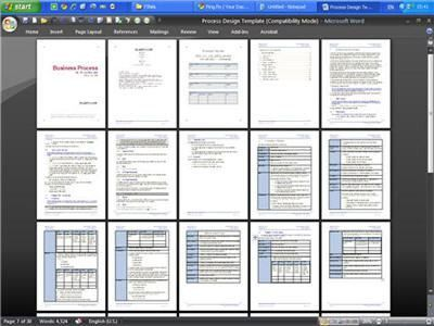 Business Process Design Templates (Word & Visio)