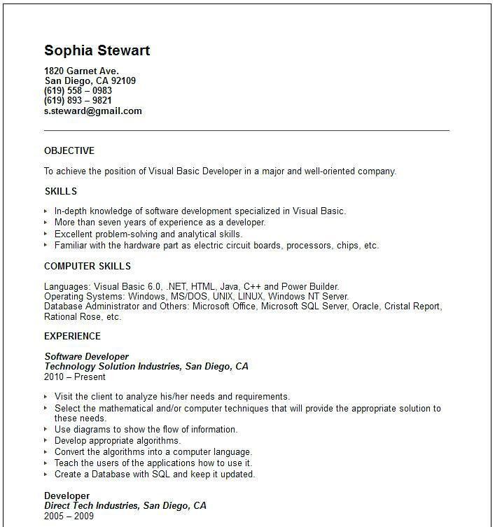 Resume Computer Skills Section Examples. barry t skills resume ...
