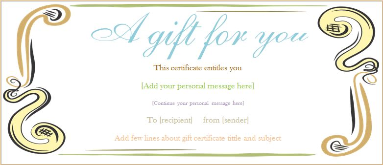 Customize Gift Certificate vouchers | Blank Certificates