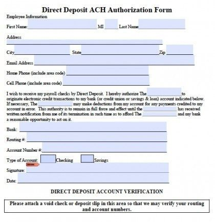 Direct Deposit Template  BesikEightyCo