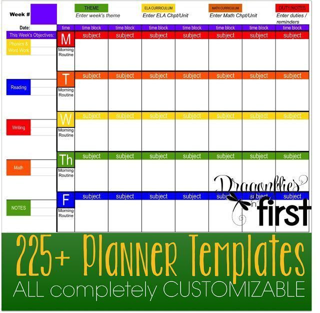 597 best Planners Printables & Templates images on Pinterest ...