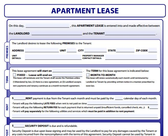 Apartment Lease Forms - Free download and software reviews - CNET ...