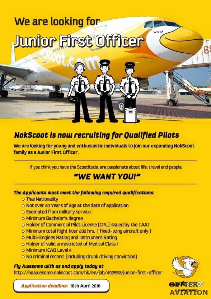 NokScoot Junior First Officer - Better Aviation