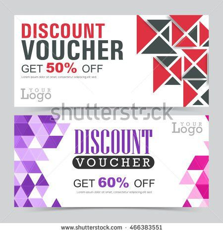 Creative Gift Voucher Coupon Template Set Stock Vector 464694890 ...