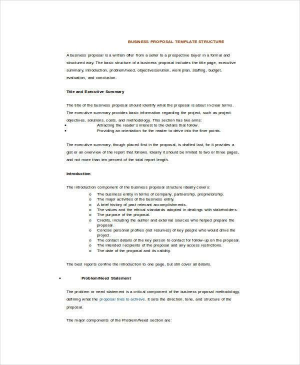 Business Proposal Template Word - 5+ Free Sample, Example, Format ...