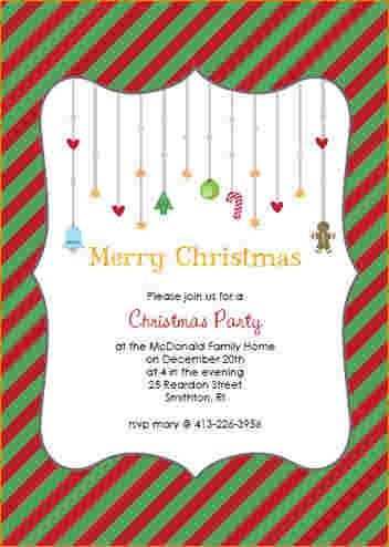 4+ free printable christmas party invitations templates | Outline ...
