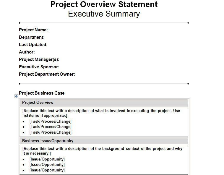 Free Project Management Statement Of Work