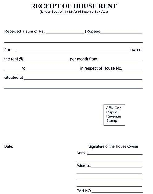 House Rent Receipt Format, 8+ house rent receipt template in doc ...