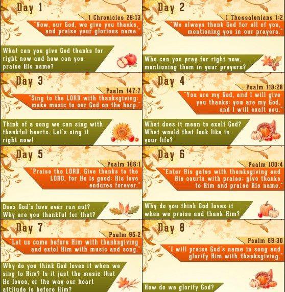 Thanksgiving Bible Verses - Free Thanksgiving Countdown Printable ...