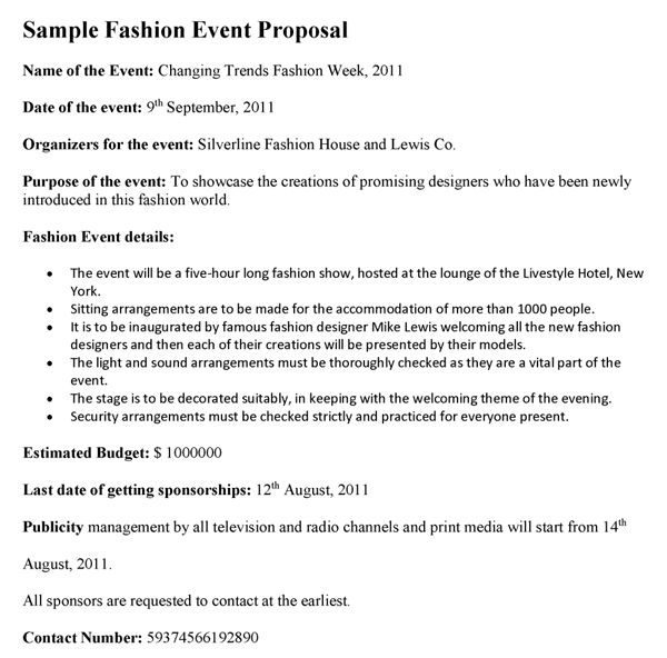 Fashion Event Proposal