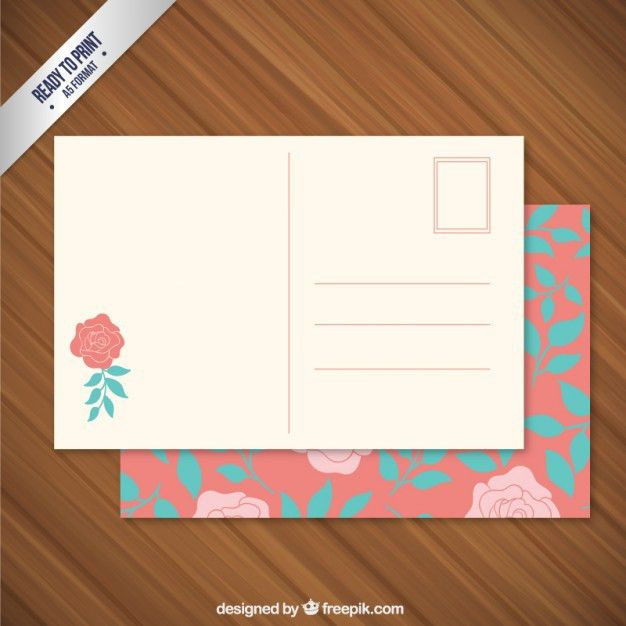 Postcard Template Vectors, Photos and PSD files | Free Download