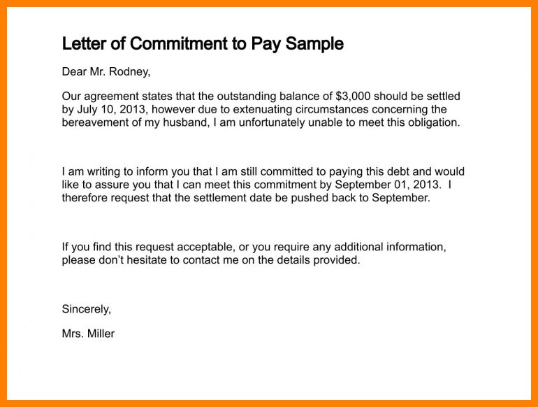 8+ letter of agreement sample for payment | job resumed