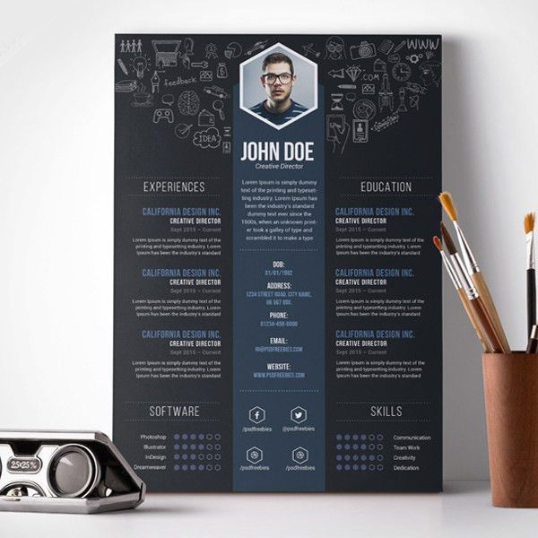 Creative Resume Templates 9 Colors Template Free Vector - uxhandy.com