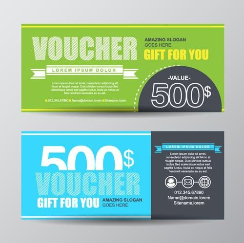 Gift voucher modern design template 03 - Vector Card free download
