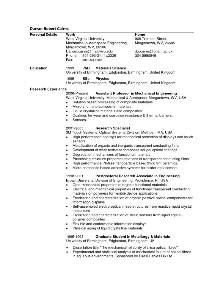 Civil Engineering Resume Sample Aerospace Engineering Resume ...