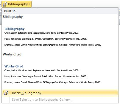 MLA, APA, Chicago — Microsoft Word formats bibliographies for you ...