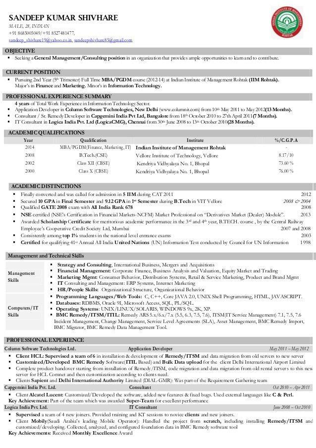 Cv sandeep kumar_shivhare - iim rohtak - consulting & general managem…