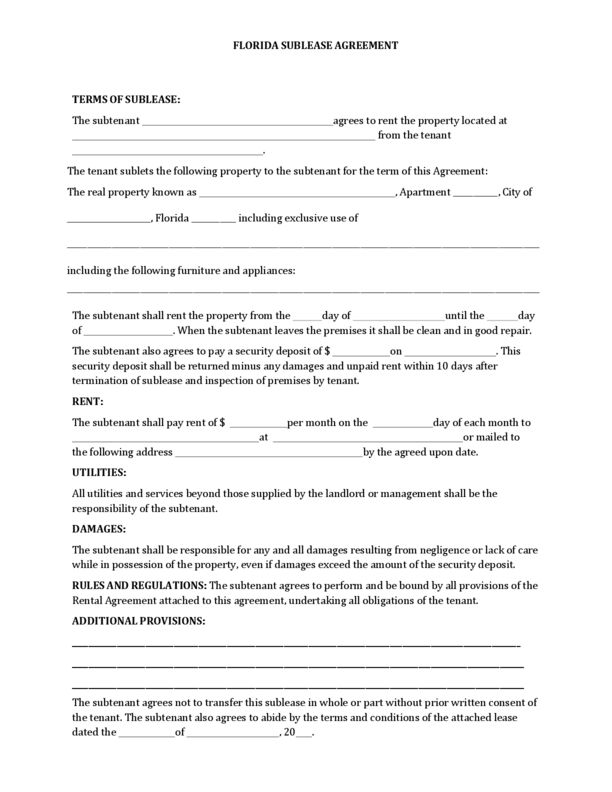 Florida Rental Lease Agreement Templates | LegalForms.org