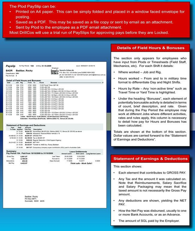 Handle Payroll, Payslips & Bonuses with PC-Plod: Drilling Industry ...