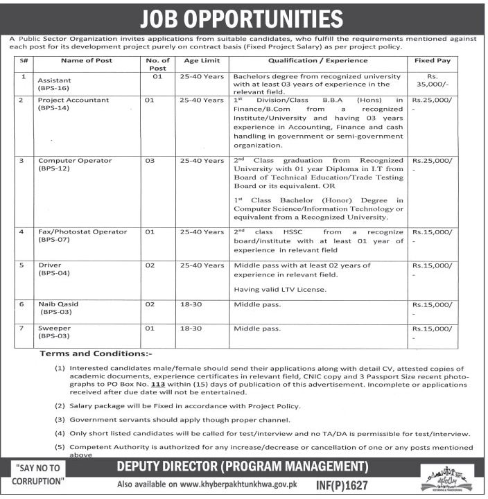 Deputy Director Program Management Public Sector Jobs Assistant ...