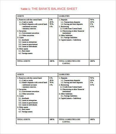 Balance Sheet Format - 8+ Free PDF Documents Download | Free ...