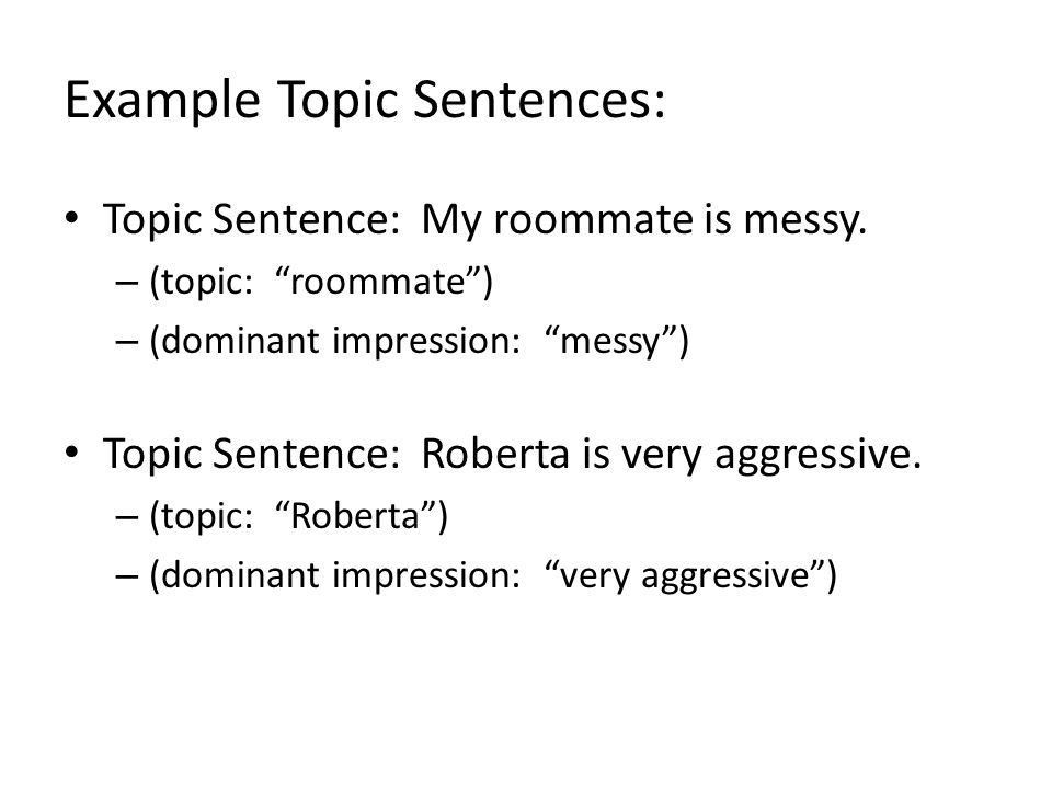 Writing Effective Topic/Thesis Sentence - ppt download