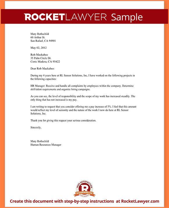 8+ sample salary increase proposal letter | Sales Slip Template