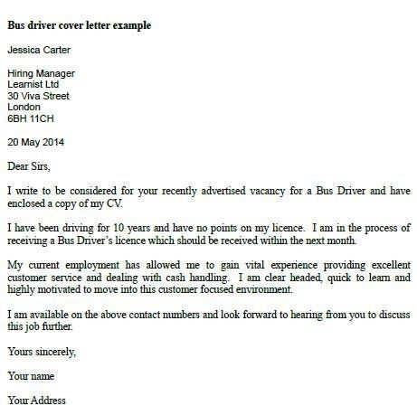 Cover Letter For Bus Driver | The Letter Sample