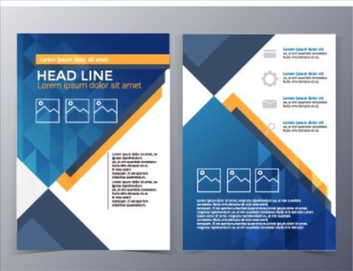 Fashion company flyer and brochure cover 03 - Vector Cover free ...