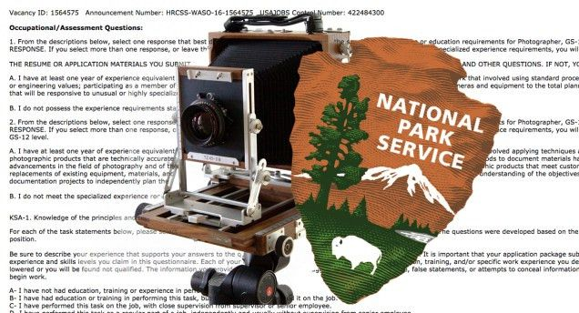 National Park Service $100,000 Job Opening. Skills Required: Large ...
