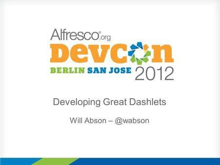 Dynamic UI Generation with Alfresco Share and Aikau - ppt video ...