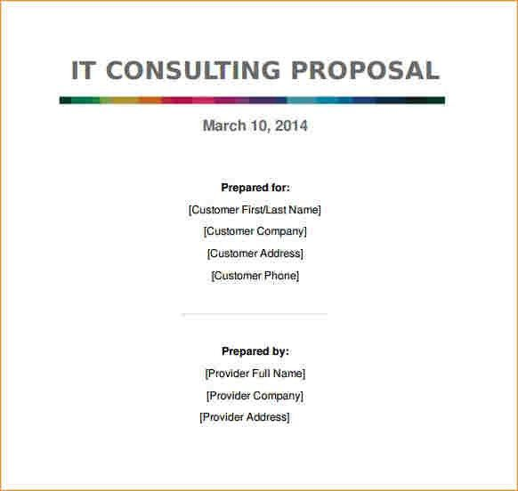 Free Consulting Proposal Template Consulting Proposal Template