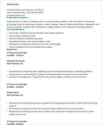 Project Coordinator Resume Examples. 15 best human resources hr ...