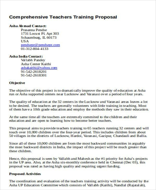 7+ Training Project Proposal Templates -Free Sample, Example ...