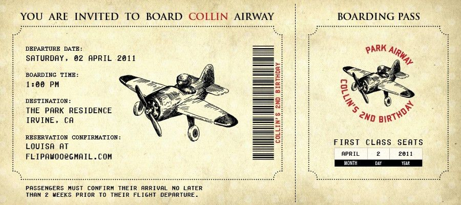 Retro Template Concept of Airline Boarding Pass Ticket with Brown ...