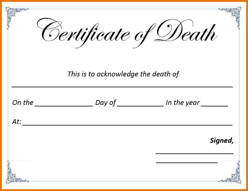 Certificate Template Word.Death Certificate Template.png | Scope ...