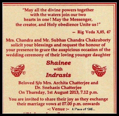 Wedding Invitation Wordings In Telugu ~ Yaseen for .