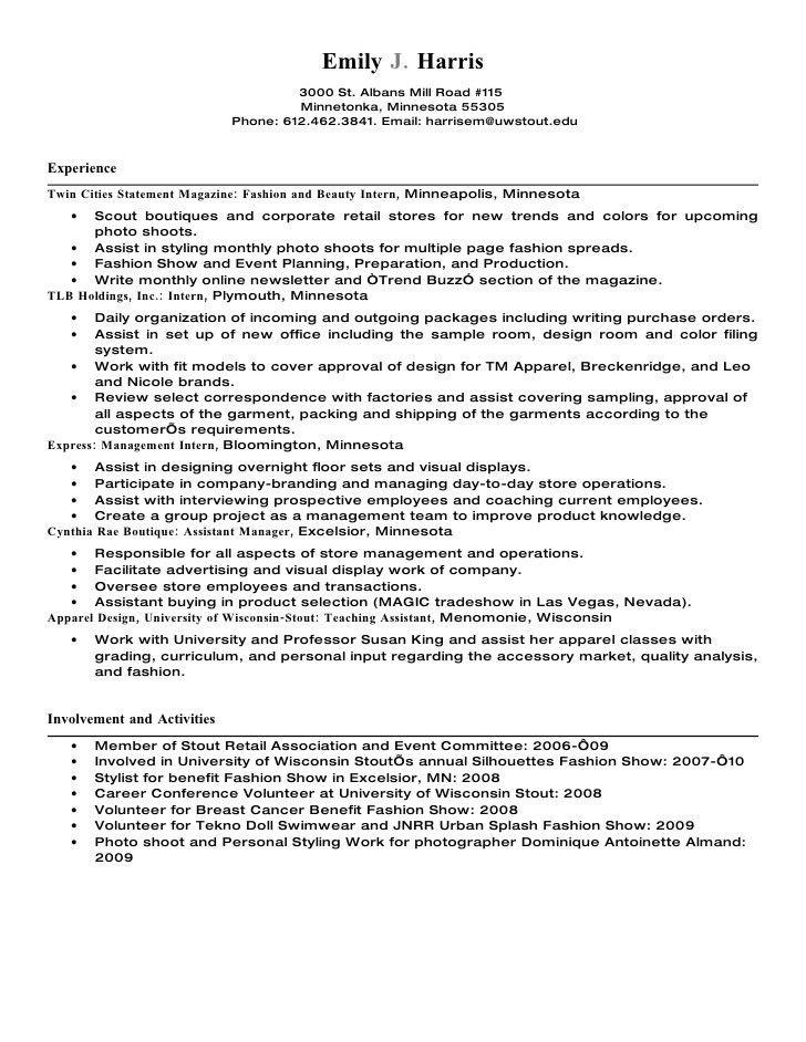 Sample Resume Visual Merchandising Manager - Corpedo.com