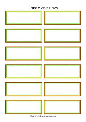 Flash Card Template. Free Printable Flashcards For Learning ...